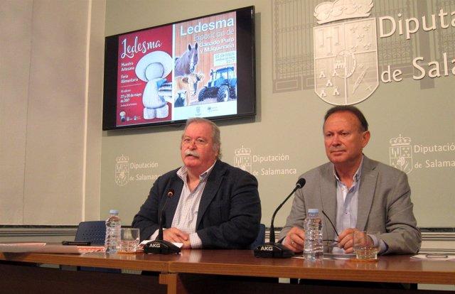 El alcalde de Ledesma  y el diputado de Agricultura.