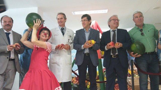 El consejero de Salud inaugura XIV Semana de Hábitos Saludables en La Arrixaca