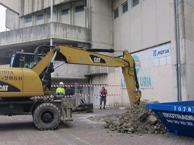 Inicio de las obras de remodelación de Anoeta.