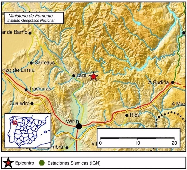 Terremoto en Laza (Ourense) el 23 de mayo de 2017.