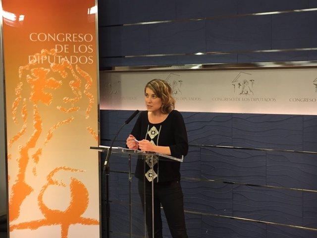 La eurodiputada de IU Marina Albiol en el Congreso