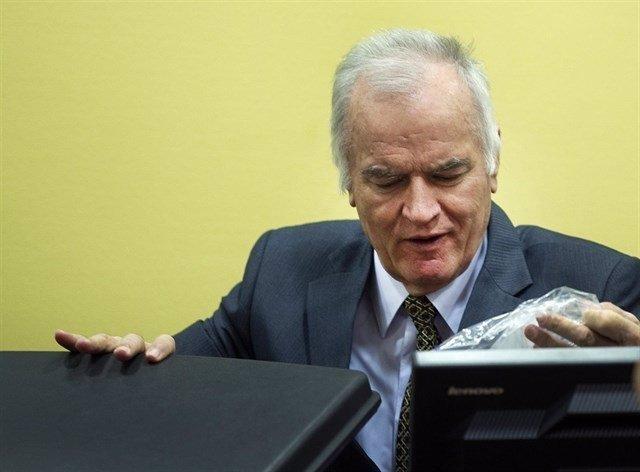 Ratko Mladic, en el Tribunal Penal Internacional para la Antigua Yugoslavia