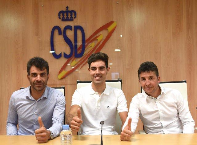 Oscar Pereiro, Alfonso Cabello y Carlos Sastre