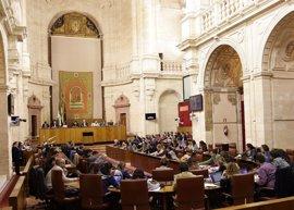 Debate de totalidad de la Ley de tanteo y retracto en desahucios en el Parlamento andaluz