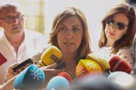 """Susana Díaz: """"Ya todos estamos con Pedro, que los militantes participen libremente en las asambleas"""""""