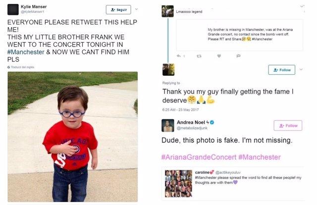 Bulos en redes sociales tras el atentado de Manchester
