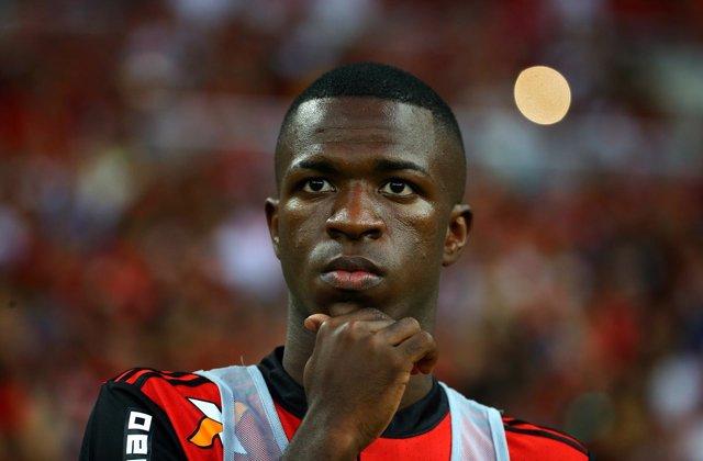 El Jugador Brasileño Del Flamengo Vinicius Junior