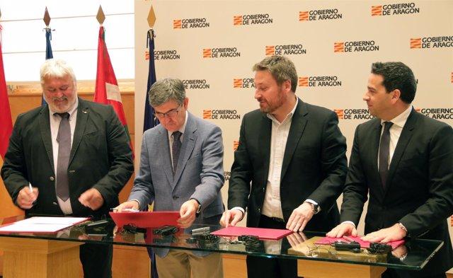 Firma del proyecto ALERT en Zaragoza