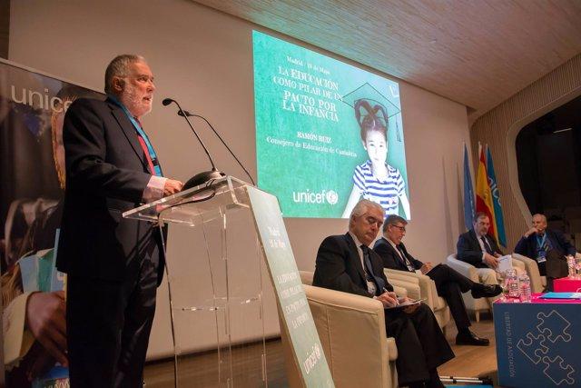 Ruiz interviene en la jornada de UNICEF