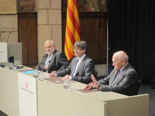 J.A.Planell (UOC), C.Puigdemont y G.Ferraté