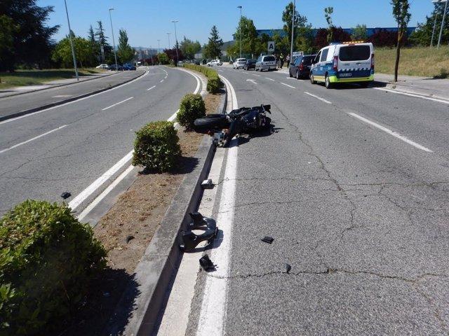 Fallece un motorista en un accidente en la entrada a Landaben