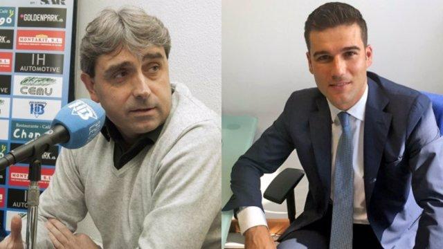 Txema Indias y Martín Ortega, director deportivo y general del Leganés