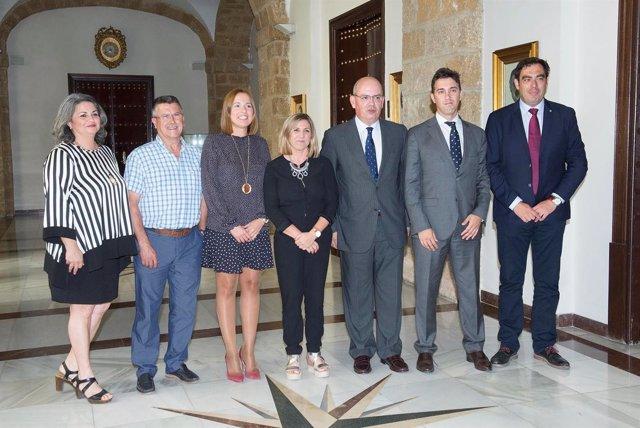 Irene García con organizaciones empresariales de la provincia de Cádiz