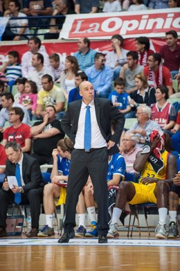 Joan Peñarroya durante el partido