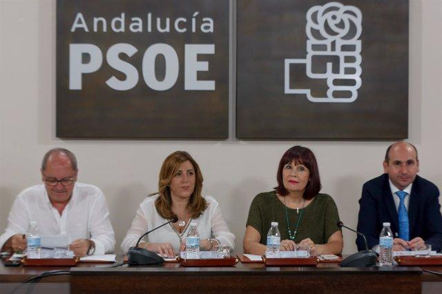 Susana Díaz preside la Ejecutiva del PSOE-A
