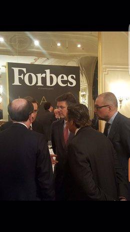 Rafael Catalá, en la entrega de los Premios Forbes