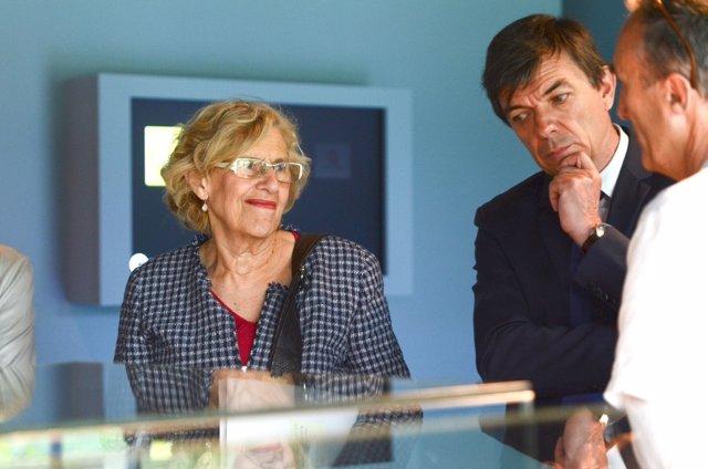 Manuela Carmena y Carlos Andradas, rector de la Universidad Complutense