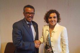 """Montserrat felicita al nuevo director general de la OMS y confía en su trabajo para """"construir una sociedad más sana"""""""