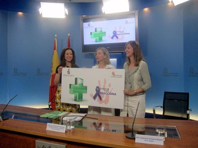 Raquel Martínez, Alicia García y Esperanza Vázquez.