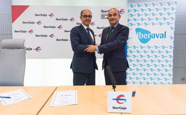Convenio suscrito entre Ibercaja e Iberaval.