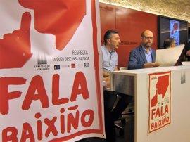 'Fala Baixiño' en las calles de Santiago: una campaña para compatibilizar ocio y descanso vecinal