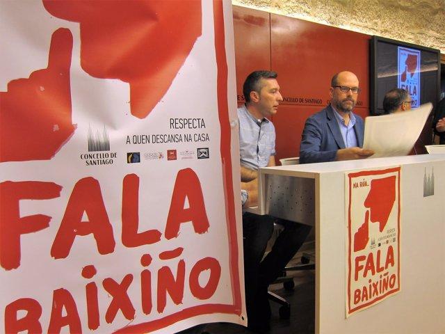 Presentación de la campaña Fala Baixiño en Santiago