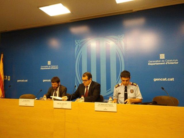 Jordi Jané, Albert Batlle y Josep Lluís Trapero