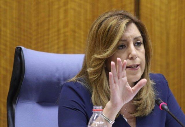 Susana Díaz interviene ante el Grupo Socialista del Parlamento andaluz