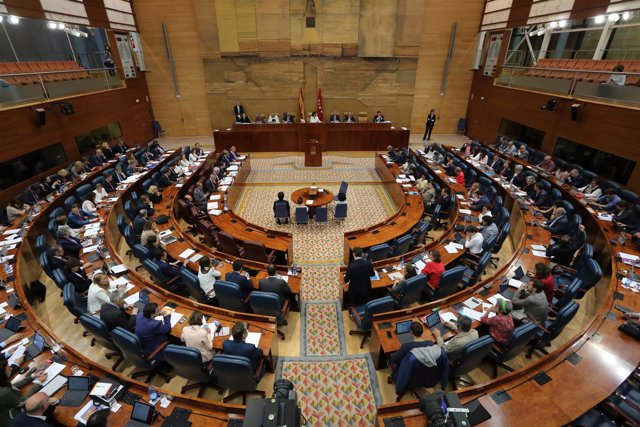 Plano general de la Asamblea de Madrid