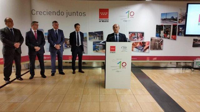 El viceconsejero de Transportes, Jesús Valverde, en el 10º aniversario de L1ML