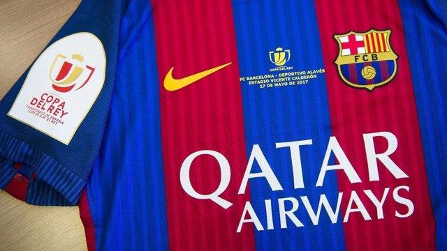 Camiseta del FC Barcelona en la final de la Copa del Rey