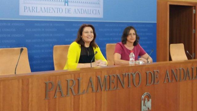 Rueda de prensa de Carmen Crespo y Catalina García (PP-A)