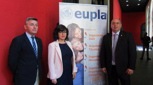 José Luis Peralta, Marta Gracia y Alfredo Zaldívar