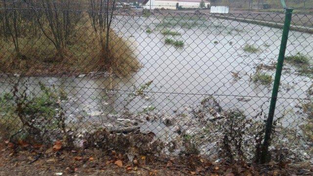 Cambia Logroño señala cómo el tanque no puede soportar el agua de lluvia