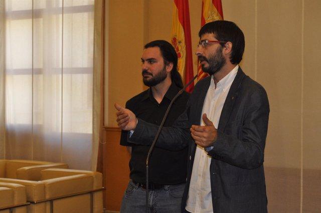 El coordinador general de IU Aragón, Álvaro Sanz.