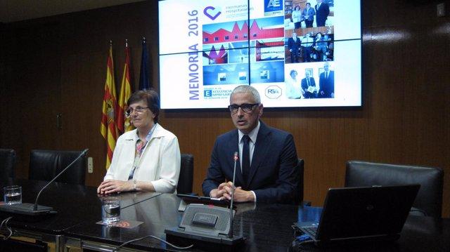 Isabel Martínez y Alfonso Cerdán, responsables del Neuropsiquiátrico del Carmen