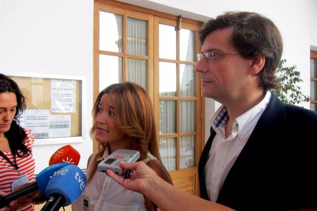 Verónica Pérez y Carmelo Gómez (PSOE)