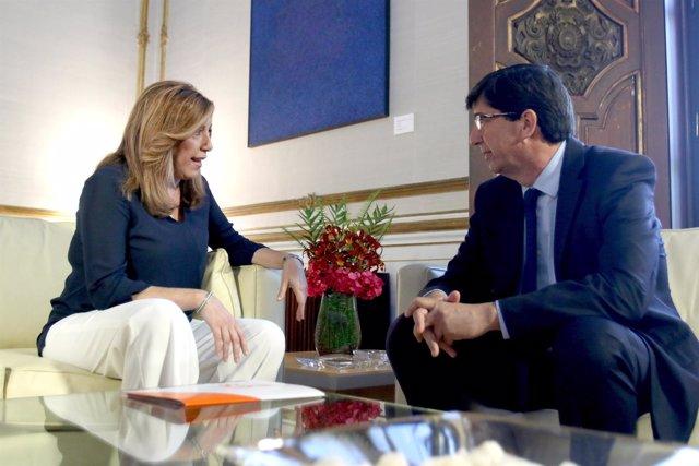 Reunión entre Susana Díaz y Juan Marín