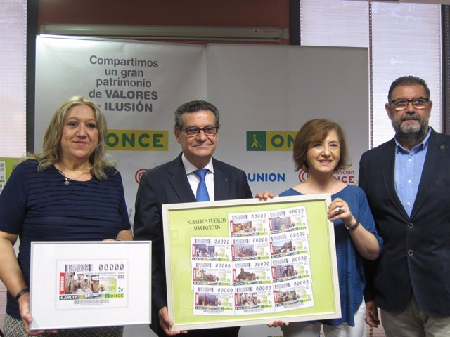 Presentación del cupón de la ONCE dedicado a Sos del Rey Católico