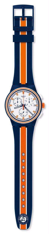 Modelo Edición Especial de Swatch para Roland Garros