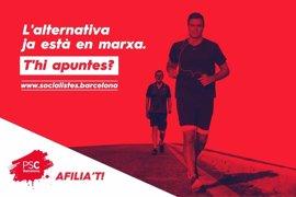 El PSC de Barcelona aprovecha la victoria de Sánchez para lanzar una campaña de afiliación