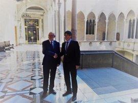 Carles Puigdemont y el fiscal general del Estado se reúnen en la Generalitat