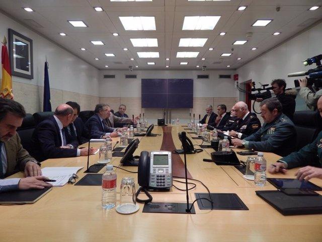 Reunión en Interior de la mesa de evaluación de la amenaza terrorista
