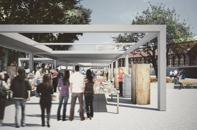 Proyecto de pacifiación de los alrededores del Mercat de Sant Antoni