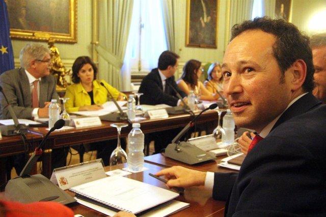 Guillermo Martínez, en la reunión