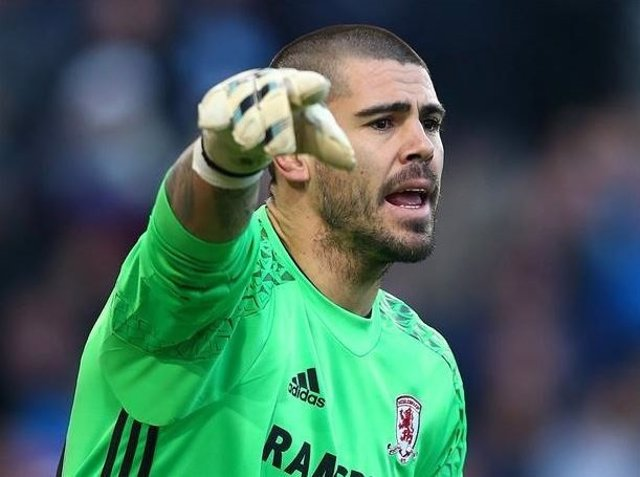 Víctor Valdés con el Middlesbrough