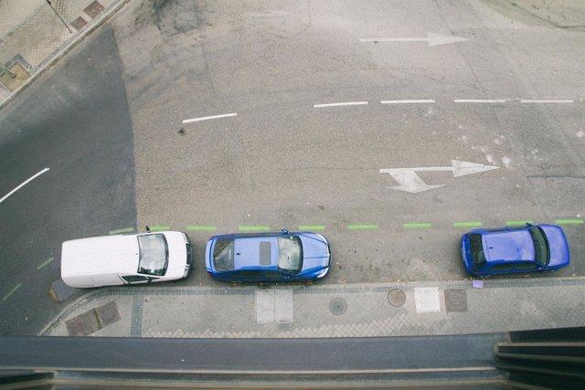 Zona de aparcamiento verde en Madrid, SER, estacionamiento regulado