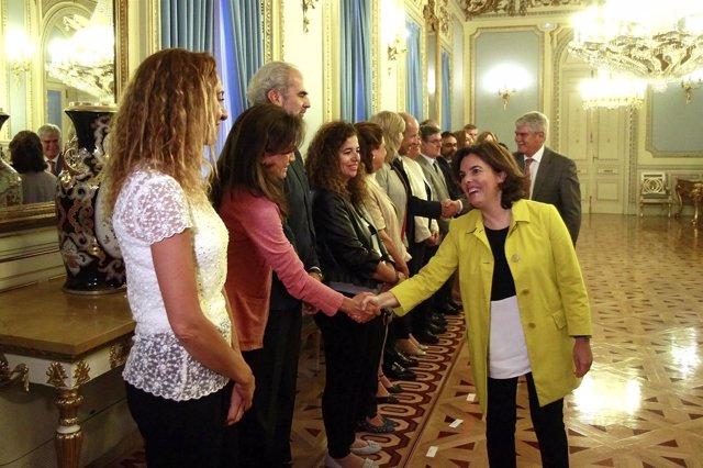 Soraya Sáenz de Santamaría en el Ministerio de la Presidencia