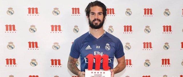 Isco, Jugador cinco estrellas Mahou para los aficionados del Real Madrid