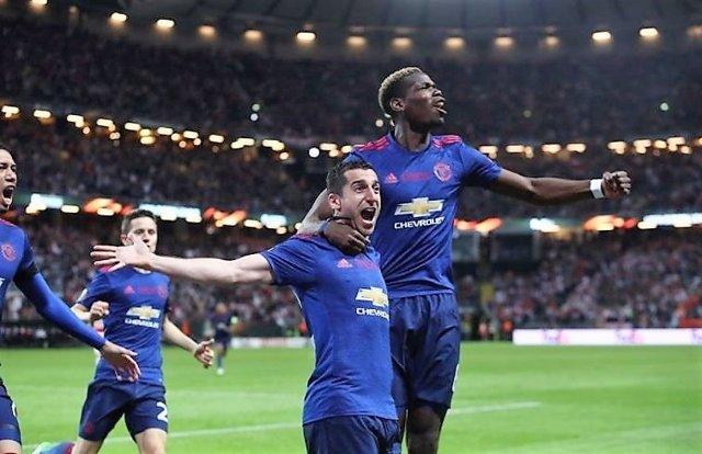 El Manchester United celebra el título de la Europa League 2017